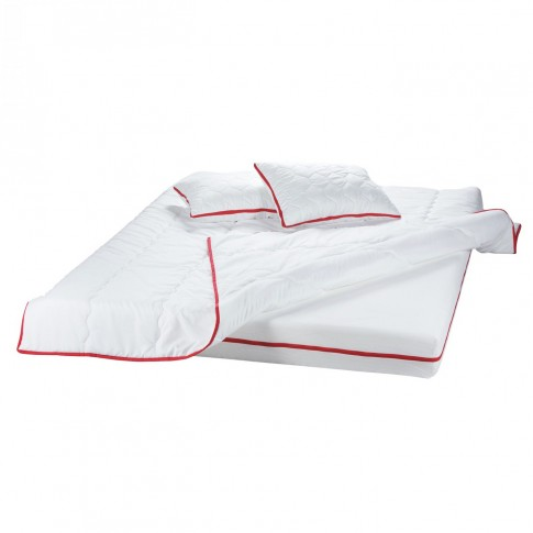 Saltea pat Bedora Confort Relax, 1 persoana, cu spuma poliuretanica + memory, fara arcuri, 80 x 190 cm + pilota + perna