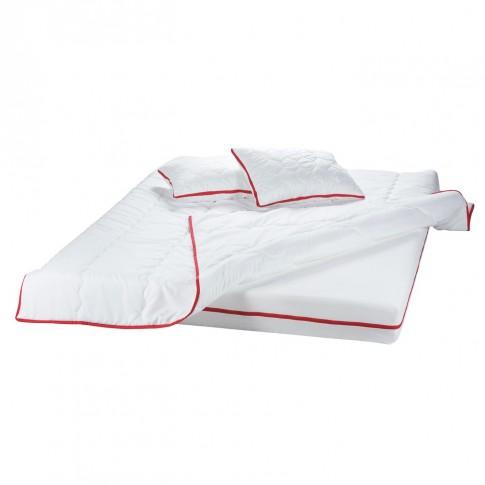Saltea pat Bedora Confort Relax, 1 persoana, cu spuma poliuretanica + memory, fara arcuri, 90 x 190 cm + pilota + perna