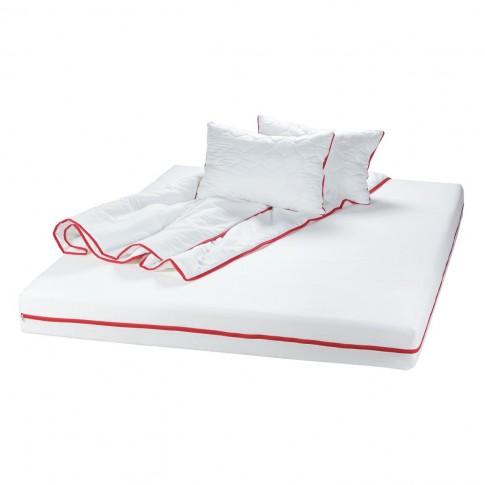 Saltea pat Bedora Confort Relax, 1 persoana, cu spuma poliuretanica + memory, fara arcuri, 80 x 200 cm + pilota + perna