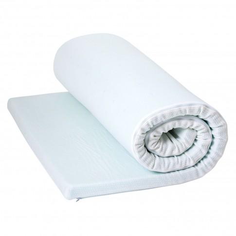 Topper saltea Bedora Cool Sense, 120 x 190 cm, cu spuma memory + gel rece