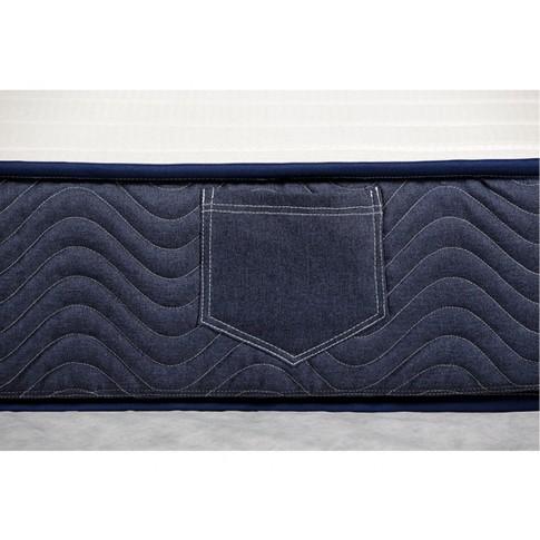 Saltea pat Bedora Polar Jeans, 1 persoana, cu spuma poliuretanica + memory si cocos, fara arcuri, 90 x 200 cm