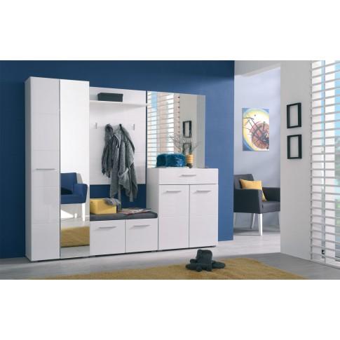 Oglinda hol pentru cuier Beny, alb mat, 79 x 2 x 95 cm, 1C
