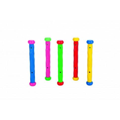 Jucarie pentru piscina Intex 55504, bat colorat, set 5 buc
