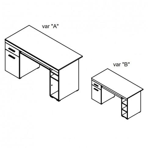Birou calculator Alfa, stejar sonoma, 145 x 75.5 x 65.5 cm, 2C