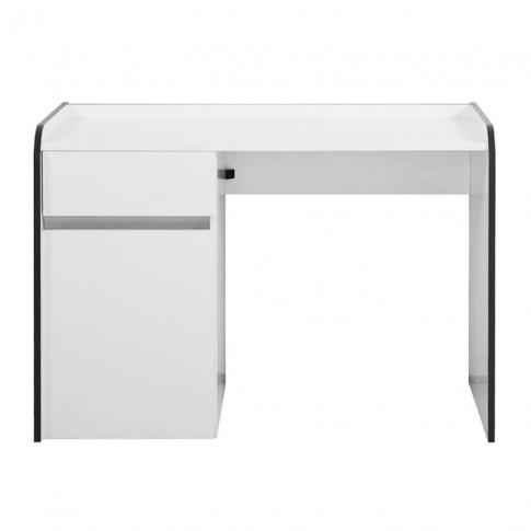 Birou calculator Bobby, alb, 106 x 75.5 x 55 cm, 1C