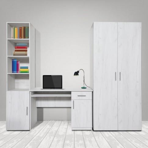 Birou calculator Stefan, stejar alb, 120 x 75 x 50 cm, 1C