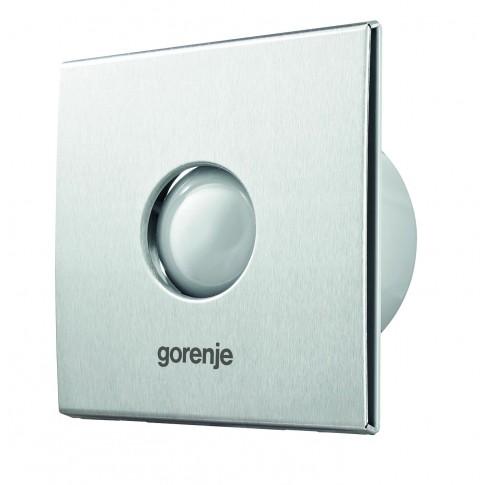 Ventilator cu timer  si senzor umiditate Gorenje BVX150SHS, D 150 mm, 25 W, 1650 RPM, 210 mc/h, culoare inox