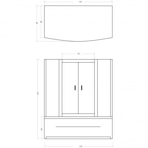 Cabina dus cu hidromasaj Kadda Aylin + cada hidromasaj, 85 x 170 x 214 cm