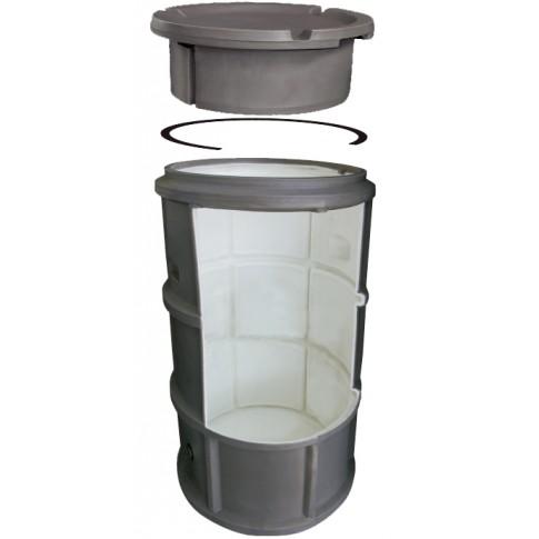 Camin apometru, Waterkit, cu capac, PE, D 550 mm, H 1100