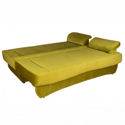 Canapea extensibila 3 locuri Alex, cu lada, verde, 190 x 95 x 80 cm, 2C
