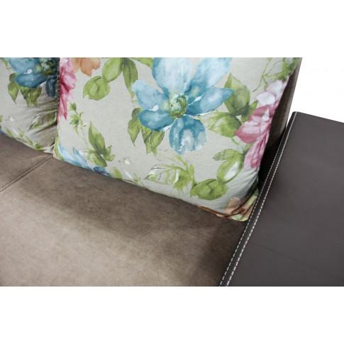 Canapea extensibila 3 locuri Cuba, cu lada, maro inchis + crem, 230 x 87 x 75 cm, 3C