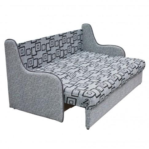 Canapea extensibila 3 locuri Dexy, cu lada, gri, 195 x 85 x 96 cm, 2C