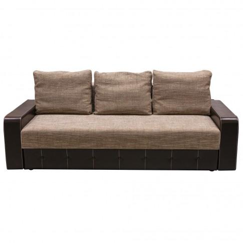 Canapea extensibila 3 locuri Tango, cu lada, maro + wenge, 230 x 100 x 90 cm, 3C