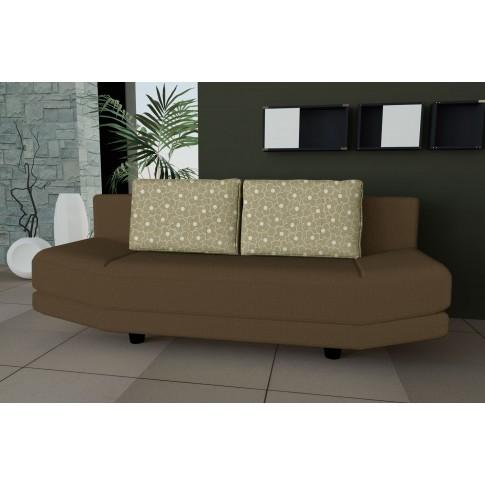 Canapea extensibila 3 locuri Tori, cu lada, maro + crem, 192 x 83 x 82 cm, 1C