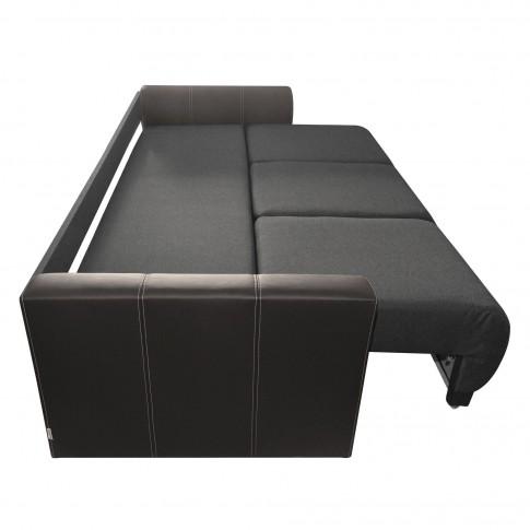 Canapea extensibila 3 locuri Cher, cu lada, gri + maro, 235 x 106 x 87 cm, 4C