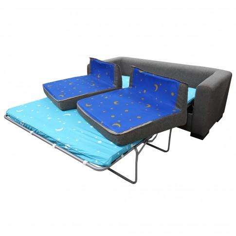 Canapea extensibila 3 locuri Neo, gri, 186 x 85 x 66 cm, 1C