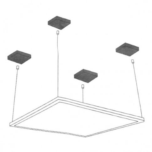 Kit suspendare panou LED Hoff