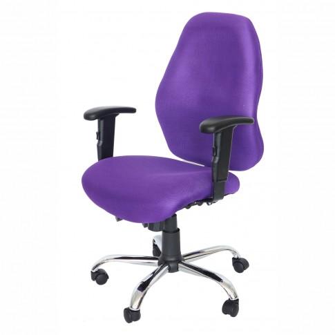 Scaun birou ergonomic Cetus, rotativ, material textil, mov