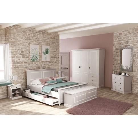 Dormitor complet Clemence, gri deschis, 5 piese, 10C
