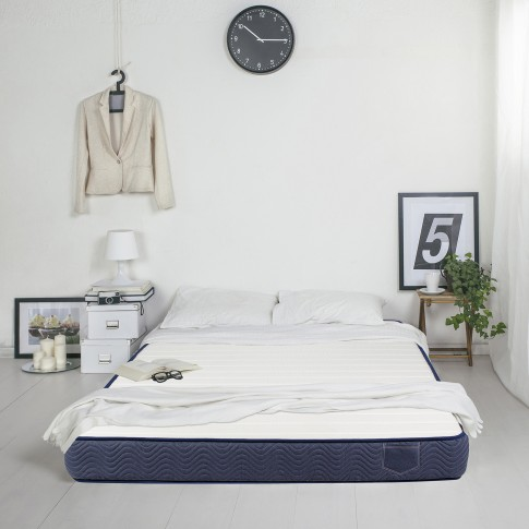 Saltea pat Bedora Polar Jeans, cu spuma poliuretanica + memory si cocos, fara arcuri, 160 x 190 cm