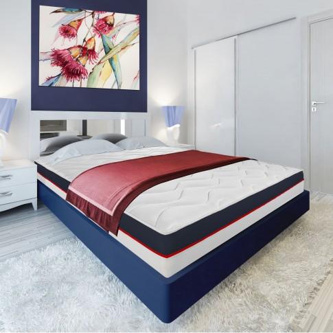 Saltea pat Bedora Dual Confort, superortopedica, 90 x 200 cm, 1 persoana, cu spuma Green Form + Green Therm Memory, fara arcuri
