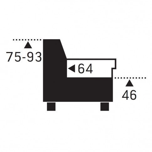 Coltar living extensibil pe stanga Apollon 2F-OTM/BK KL, cu lada, gri, 240 x 207 x 93 cm, 2C