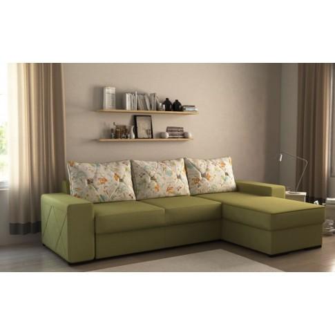 Coltar living extensibil pe stanga / dreapta Luiza, cu lada, verde, 247 x 161 x 85 cm, 2C