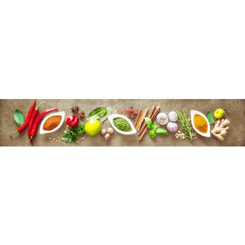 Panou decorativ bucatarie Splashback, compozit, luminescent, SPB 066, condimente, 2600 x 600 x 3 mm