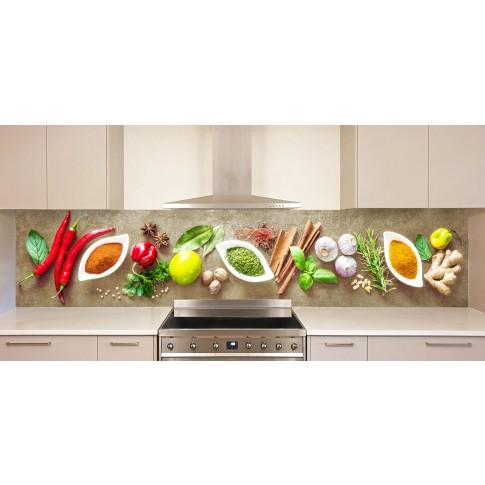 Panou decorativ bucatarie Splashback, compozit, luminescent, SPB 066, condimente, 4000 x 750 x 3 mm