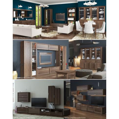 Comoda cu sertare + usi Valentino LV26, furnir diverse culori, 200 x 50 x 90 cm