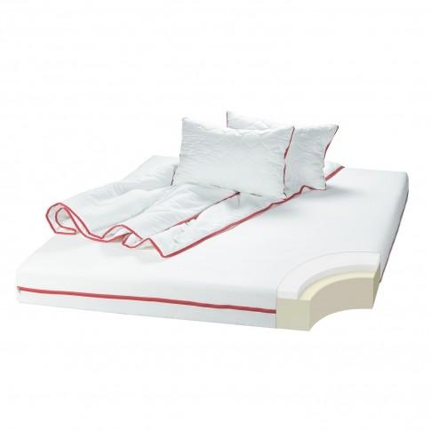 Saltea pat Bedora Confort Relax, cu spuma poliuretanica + memory, fara arcuri, 130 x 200 cm + pilota + perna