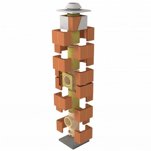 Cos fum Cemacon Heluz Klasik, 6 m, D 200 mm, racord 90°