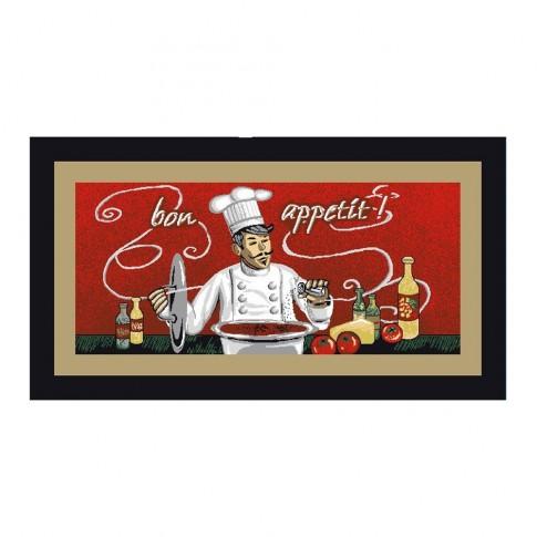 Covoras bucatarie Davo Pro Chef nylon dreptunghiular multicolor 67 x 120 cm