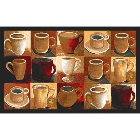 Covoras bucatarie Davo Pro Cups nylon dreptunghiular multicolor 50 x 80 cm