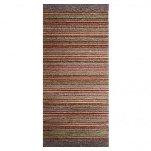 Traversa bucatarie Oriental Weavers Laos 29 poliester chenille + viscoza dreptunghiulara rosu + bej 75 x 160 cm