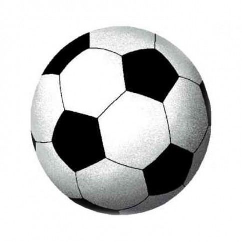 Covoras camera copii Davo Pro Fotbal nylon rotund negru 65 x 65 cm