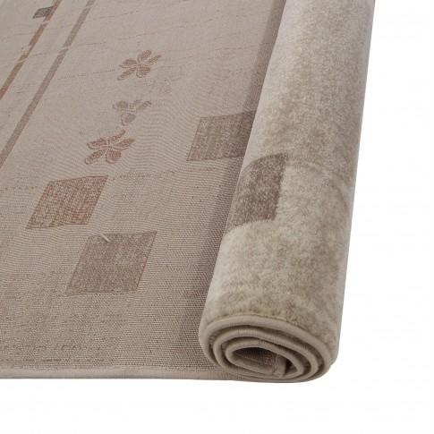 Covor living / dormitor Carpeta Delta 36181-43255 polipropilena heat-set dreptunghiular crem 80 x 150 cm