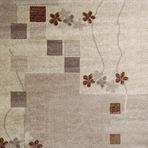 Covor living / dormitor Carpeta Delta 36181-43255 polipropilena heat-set dreptunghiular crem 120 x 170 cm