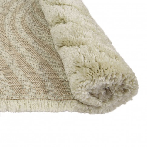 Covor living / dormitor Oriental Weavers Snow Shaggy W 623/Y20, polipropilena BCF, dreptunghiular, bej, 200 x 285 cm