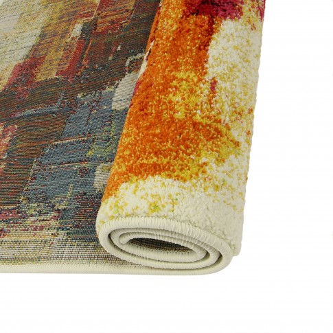 Covor living / dormitor Oriental Weavers Malaga E 8022/CE8 polipropilena frize dreptunghiular multicolor 120 x 170 cm