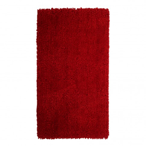 Covor living / dormitor Chip microfibra 15 poliester dreptunghiular rosu 80 x 150 cm