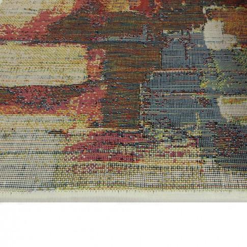 Covor living / dormitor Oriental Weavers Malaga E 8022/CE8 polipropilena frize dreptunghiular multicolor 60 x 120 cm
