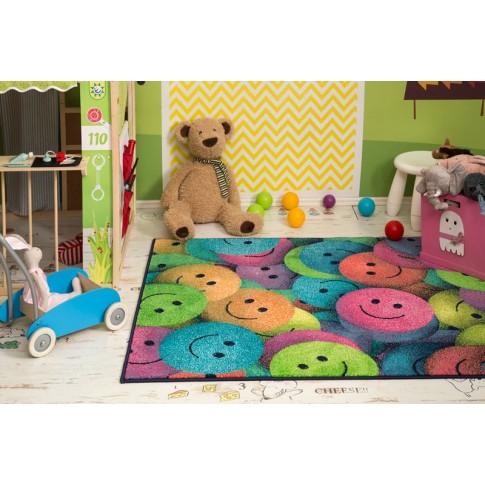 Covor living / dormitor Sintelon Play 91 Happy polipropilena dreptunghiular multicolor 120 x 170 cm