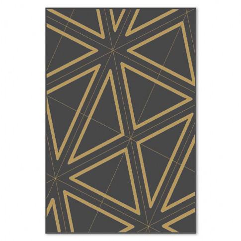 Covor living / dormitor Carpeta Soho 19481-16944 polipropilena heat-set dreptunghiular negru 80 x 150 cm