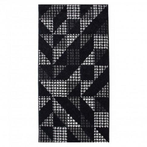 Covor living / dormitor McThree Casin 7565 K948 polipropilena frize, heat-set dreptunghiular negru 160 x 230 cm