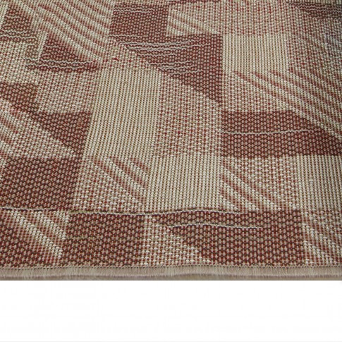 Covor living / dormitor McThree Casin 8072 8S15 polipropilena frize, heat-set dreptunghiular crem 80 x 150 cm