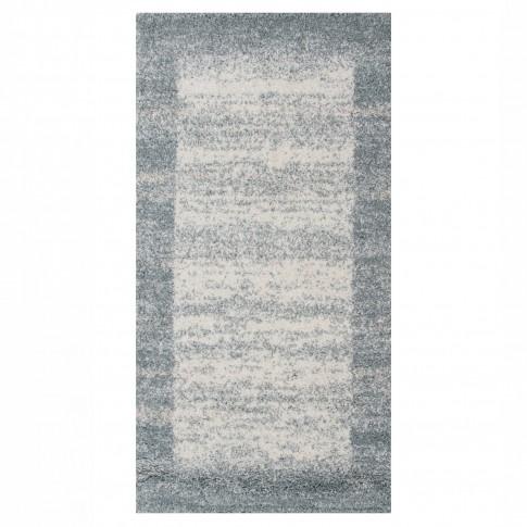 Covor living / dormitor McThree Softn 6897 H313 polipropilena frize, heat-set dreptunghiular albastru 80 x 150 cm