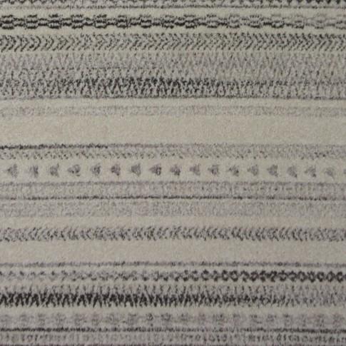 Covor living / dormitor McThree Casin 7081 V14 polipropilena frize, heat-set dreptunghiular crem - gri 80 x 150 cm