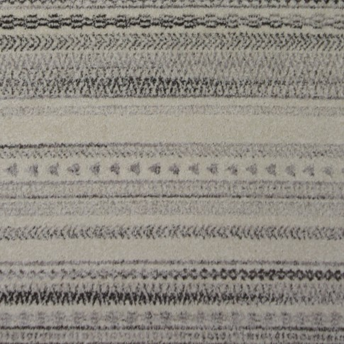 Covor living / dormitor McThree Casin 7081 V14 polipropilena frize, heat-set dreptunghiular crem - gri 160 x 230 cm