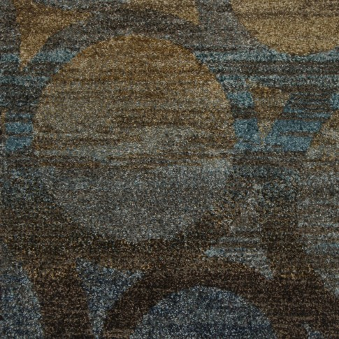 Covor living / dormitor Oriental Weavers Antigua X 5998/DG1 polipropilena frize dreptunghiular maro + albastru 80 x 140 cm